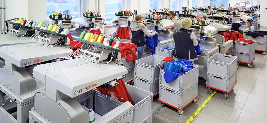 Melco bordados maquinas para producao industrial