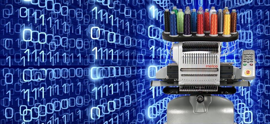 Melco maquinas de bordar para personalizacao de massa e automatizacao