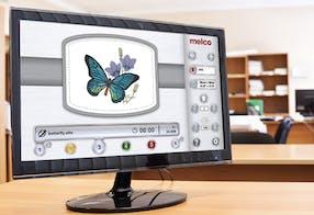 Operado por computador – Melco OS – Melco EMT16plus máquina de bordar
