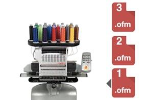 Fila de design – Melco EMT16plus máquina de bordar