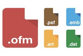 Formatos de arquivo e aparência do bordado – Melco EMT16plus máquina de bordar