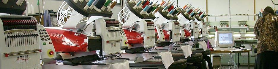 Bordado industrial – Melco AMAYA máquina de bordar