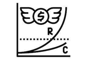ROI para novos investimentos Icon