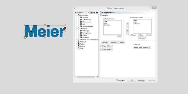 O recurso nome do grupo facilita a personalização – Melco DesignShop